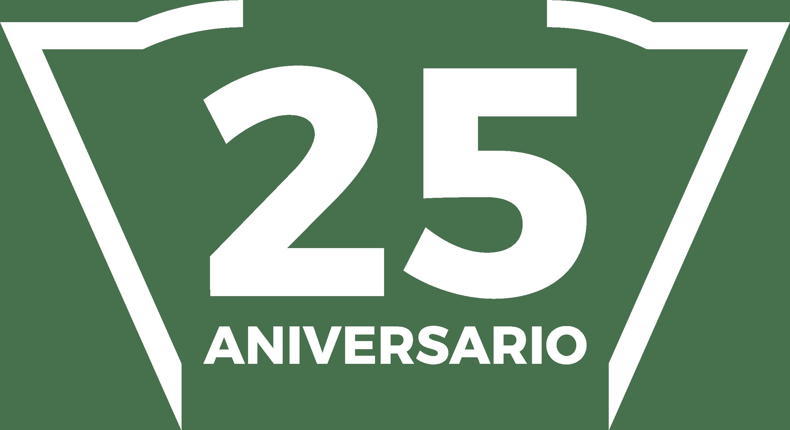 logo 25 blanco
